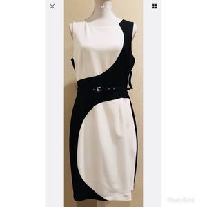 New York & Company  Black/White Dress Sz. 10